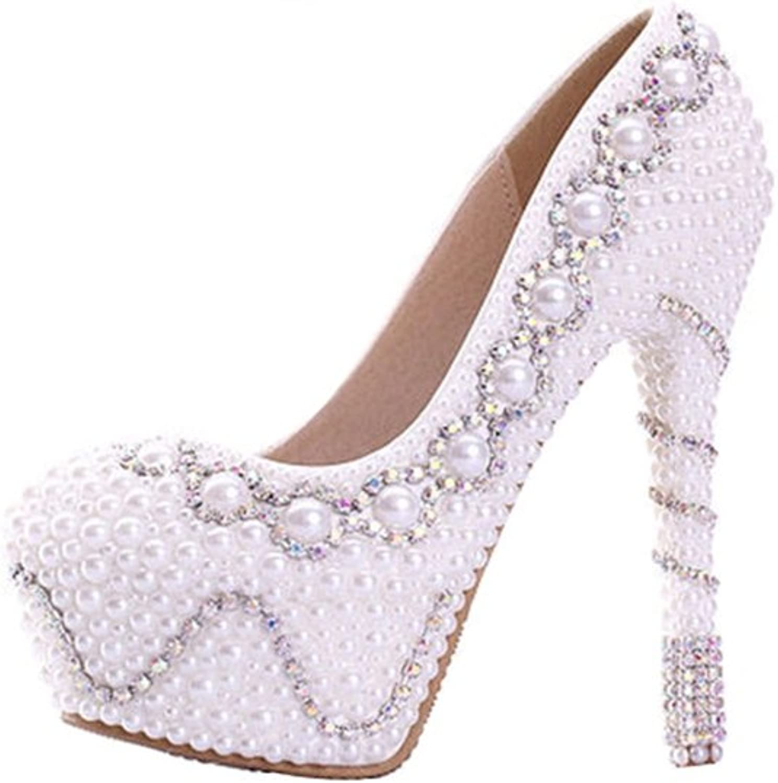 Miyoopark LL205 Women's Studded Pearl Bridal Bridesmaid Wedding Evening Pumps shoes