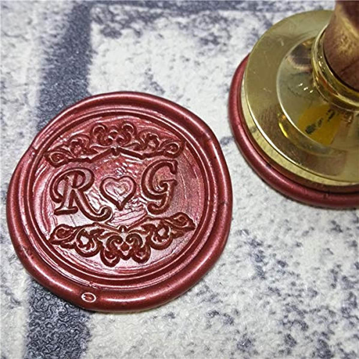 DIY Customize Double Name 2 Initials Personalized Letter Stamp/Sealing Wax/Wedding Wax Seal Stamp Custom Invitations Envelop