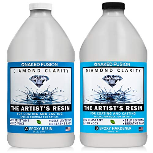 Epoxy Resin Art Resin Crystal Clear Formula- The Artist's Resin for Coating, Casting, Resin Art, Geodes, Tabletop, Bar Top, Live Edge Tables, River Tables- Non-Toxic -1 Gallon Kit