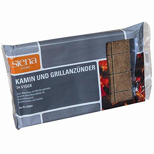 SIENA HOME 228831 kolenaansteker 24-delig hout/wax-aanmaakblokje