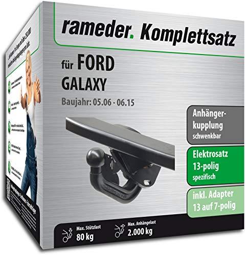 Rameder Komplettsatz, Anhängerkupplung schwenkbar + 13pol Elektrik für Ford Galaxy (113934-05541-1)