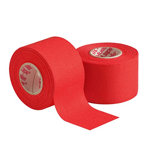 Mueller Athletic Tape 15quot X 10yd Roll Scarlet 2 pack