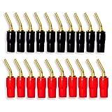Bopfimer 10 pares de conectores tipo banana de 2 mm, conectores de cable de audio de cobre, chapado en oro