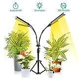 NaCot Lampe de Plante avec Trépied 96W 192 LED Lampe Croissance Floraison 4 Modes d'éclairage Spectre Complet 0-100% Luminosité Dimmable, Lampe Horticole avec 3H/6H/12H Minuteur pour Intérieur/Jardin