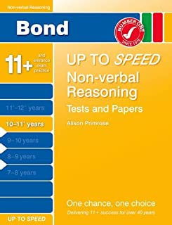 Bond Up to Speed Non-Verbal Reasoning Tests and Papers 10-11+ years