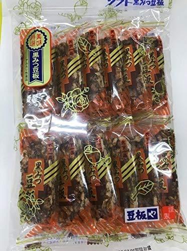 中山製菓 12枚 黒みつ豆板 12入