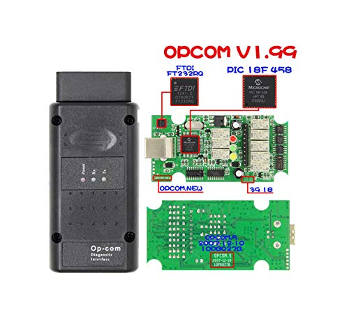 HaoYiShang Herramienta de diagn/óstico Auto del Coche de OP-COM OPCOM 2010V Puede el Explorador del Interfaz del USB OBD2 V1.7Firmware
