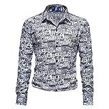 CFWL Camisas De Manga Larga De Negocios De OtoñO E Invierno Camisas Casuales Con Estampado De Casa Para Hombres Militar Aviador Para Chalecos Corte Camisa Manga Larga Chaqueta Blanco S