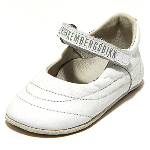 BIKKEMBERGS 5852G Ballerina culla Bimba BIANCA My First Scarpa Shoes Kids [19]