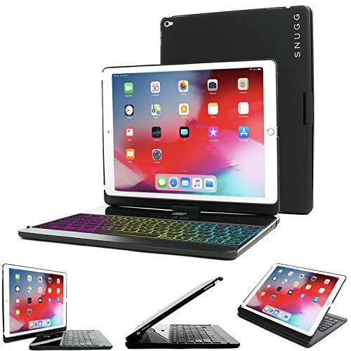Snugg iPad 10.2 /iPad Air 3 (2019)/iPad Pro 10.5' Custodia Per Tastiera Bluetooth Wireless Retroilluminata - Tastiera Girevole A 360 ° Per Apple iPad 10.2 /iPad Air 3 (2019)/iPad Pro 10.5' Nero