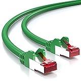 deleyCON 5m CAT6 Câble Réseau - Blindage PIMF S/FTP Cat-6 RJ45 Câble Ethernet - LAN DSL Routeur Modem Point D'accès Patch Panels - Vert