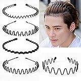 5 Pcs Unisex Hair Band Metal, Metal Spring Wavy Hairband Hair Hoop