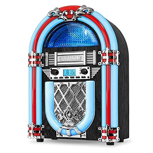 Nostalgic Wood Jukebox w/ Bluetooth