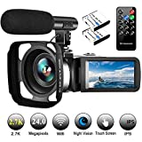 Video Camera Camcorder with Microphone Vlogging Camera YouTube Camera Recorder...