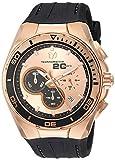 Technomarine Men's Cruise Stainless Steel Quartz Watch with Leather Calfskin Strap, Brown, 23.6 (Model: TM-116001)