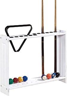 YRU Snooker Porte-Queues de Billard Support pour 12 Cues Au Sol en Bois