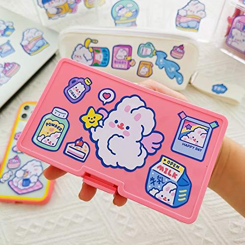 BLOUR Schöne Flauschige Kaninchen Aufkleber Scrapbooking dekorative Aufkleber Korean DIY Tagebuch Album Stick Label Kawaii Briefpapier