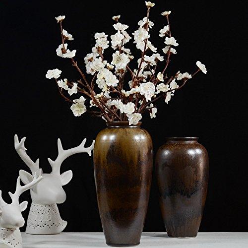 Artificielles Fleurs de prunier Prune Fleur en soie Simulation Branche de pêcher Home Décoration de mariage Sakura Faux Fleurs Table Décor Peach Fleur 3PC