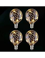 GlobaLink LED-lamp G40 Vervanging Globe Vervanging Exterieur Waterdicht IP65 Spaarlamp Sokkel Lamp E12 Decoratie Patio Kit Lot 4 Niet-dimbaar