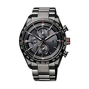 [シチズン] 腕時計 アテッサ Eco-Drive エコ・ドライブ電波時計 ダイレクトフライト ACT Line AT8185-62E メンズ ブラック