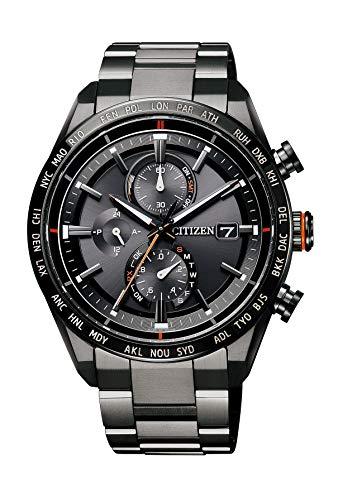 『[シチズン] 腕時計 アテッサ Eco-Drive エコ・ドライブ電波時計 ダイレクトフライト ACT Line AT8185-62E メンズ ブラック』のトップ画像