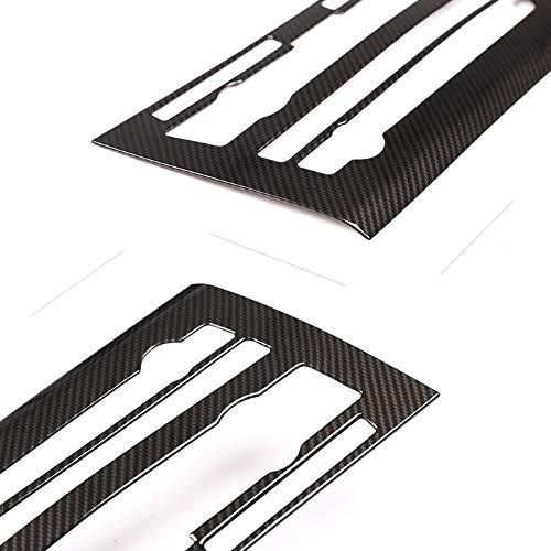 loulou Coche de Fibra de Carbono Textura Interior de Centro de Control Panel de la condición del Aire del Interruptor del Volumen de la Cubierta de Ajuste en Forma for el BMW X5 X6 F15 F16