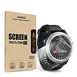 (Pack of 6) Screen Protector for Garmin Fenix 3 HR, Akwox [HD Clear][Anti-Glare][Anti-Bubble] Full Coverage TPU Screen Protective Film for Garmin Fenix 3 HR