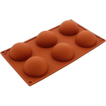 Extrawish Stampo in Silicone Sfera Mezza Sfera Strumenti di Cottura Fai-da-Te di Pasqua Decorazione di Torte per budino al Cioccolato e Torta Pasqua Stampo in Silicone a Forma di Uovo a 8 cavit/à