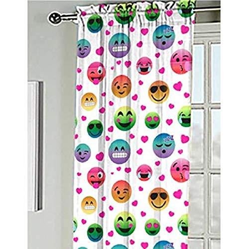 Emoji Window Curtain Panel, 84