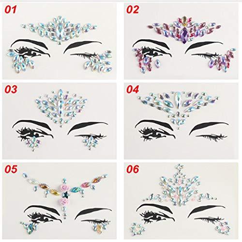 Conjunto de adhesivos para tatuajes Taladro de ojos de acrílico adhesivo Taladro de cejas de resina
