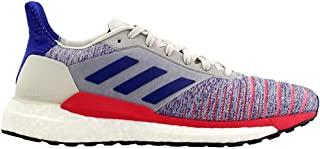 adidas Women's Solar Glide Running Shoes Raw White/Active Blue/Shock Red 8.5