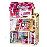 Eco Toys Puppenhaus+ 2 Puppen Kinderpuppenhaus Kinderset Spielset Puppe Kinderspielzeug