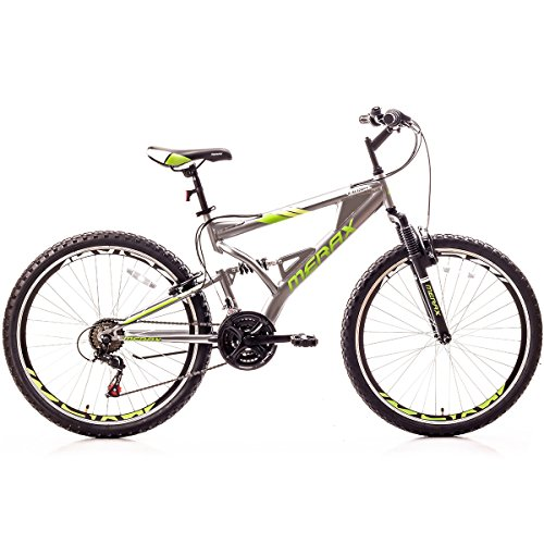 Merax Falcon Full Suspension Mountain Bike Aluminum Frame 21-Speed 26' Bicycle