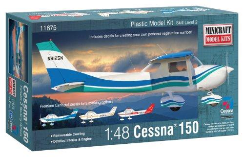 Minicraft Models Dempsey Designs Morceau modèles Echelle 1 : 48 modèle Cessna 150 avec Chiffres immatriculation Marquage 3 Options, y Compris Custom Kit