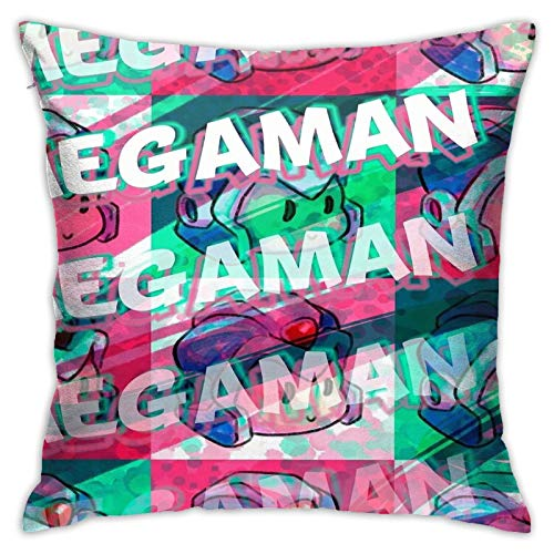 Opahxa5 Megaman X 90s Throw Pillow Covers Both Sides Cotton Pillow Case Decor Home Sofa Square Cushion Cover 18x18 in