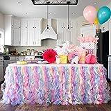 Bluekate Rainbow Party Tutu Table Skirt. 6ft...