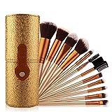 pennelli make up 12pz set di pennelli cosmetici professionali per trucco beatuy power foundation kit di spazzole per pennelli + custodia per tazza maquiagem