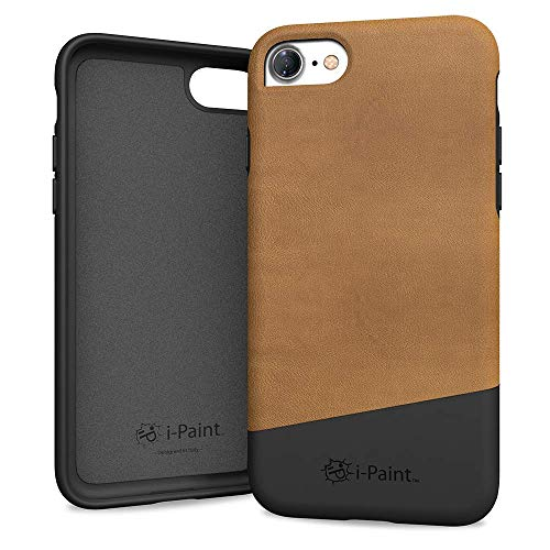 i-Paint Cover Leather Case per iPhone 8/7/SE 2020, Modello Brown
