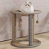 LITINGT Árbol de escalada para gato de sisal, gato con pelota, plataforma de juguete para proteger los muebles (color: M)