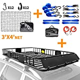 XCAR roof rack + net + straps blue