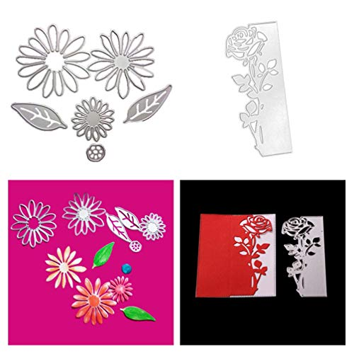 Mini Flowers Metal Die Cuts for Scrapbooking and Card-Making and DIY Crafts by The Stamps of Life Patterns and Backgrounds