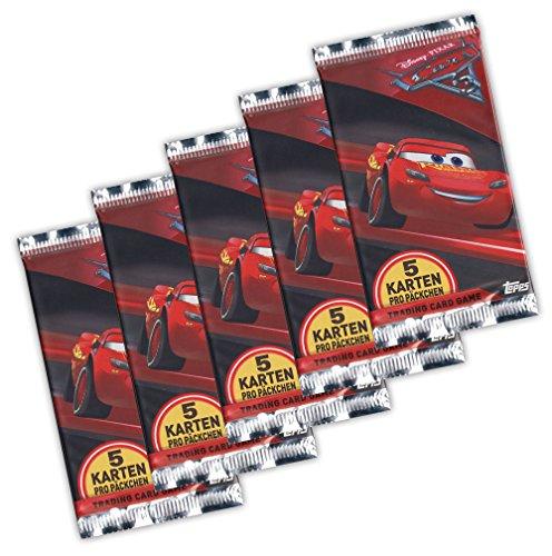 Cars 3 Evolution Panini 2017 Trading Card 5X Booster - Juego de cartas coleccionables (edición alemana)