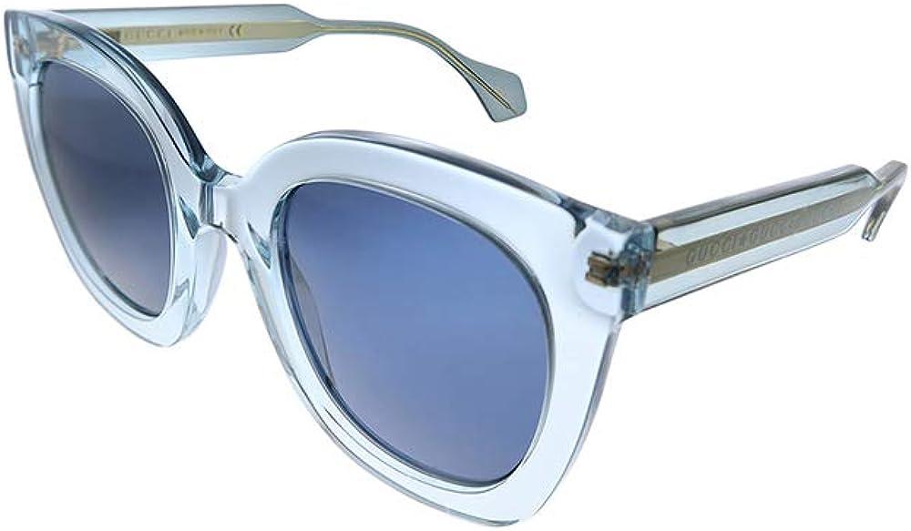 Gucci, occhiali per donna, montatura squadrata, azzurra colorata in trasparenza GG0564S 003 51