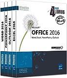 Pack 4 Libros: Word, Excel, Powerpoint Y Outlook. Microsoft Office 2016