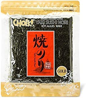 Daechun(Choi`s1) Sushi Nori (50 Full Sheets), Resealable, Gold Grade, Product of Korea