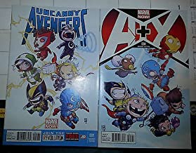 Uncanny Avengers #1 A+X Skottie Young Variant Comic Book Lot 2) Both Baby Covers