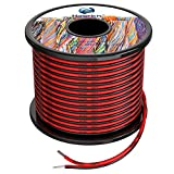 16 awg Silicone Electrical Wire 2 Conductor Parallel Wire line 60ft [Black 30ft Red 30ft] 16 Gauge Soft and Flexible Hook Up Oxygen Free Strands Tinned Copper Wire