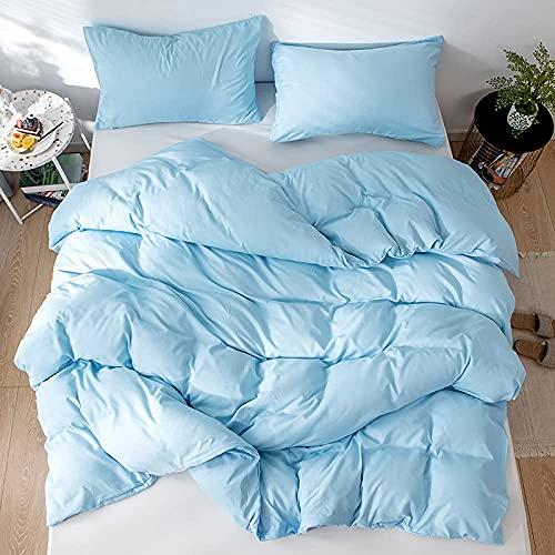 Sängkläder set 3D barn dubbel sänghimmel enkel vård mjuk mysig kung (220 x 240 cm), 3 delar set 1 del täcke + 2 delar matchande örngott