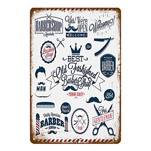 yycsqy Muurbord Retro IJzeren Schilderij Plaque Metalen Blad Vintage Barber Shop Kapsel Tattoo Poster Cafe Bar College Dorm Thuis Muurdecoratie