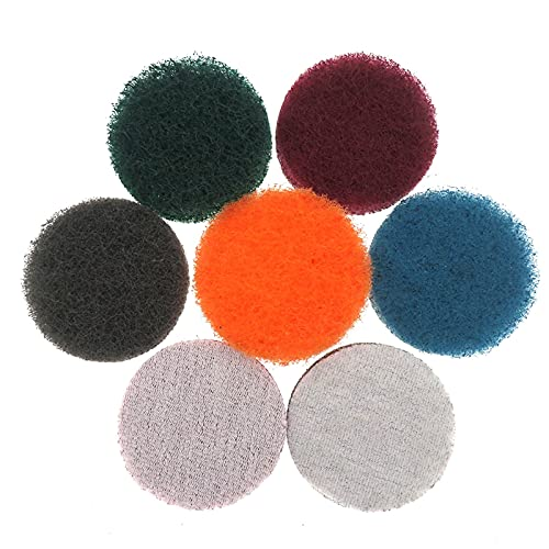 LJGFH Woodworking tools 5pcs 2 inch Power Scrub Pads for Drill Polish Scouring Pad Hook & Loop Car Cleaning tools Easy to use (Color : Green)